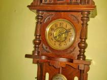 B175-Pendul perete Junghans Original functional vechi 1870..