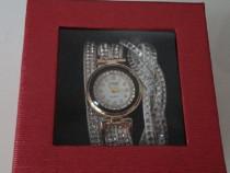 Ceas de dama quartz, nou, cu bratara