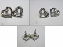 Cercei argintati - inima
