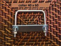 Colier 40x60 brida clema sistem fixare gard panou bordurat