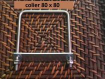 Colier 80x80 brida clema sistem fixare gard panou bordurat