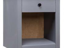 Noptieră, gri, 46x40x57 cm, lemn masiv de pin 282689