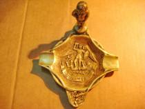 3980-Scrumiera mica antica in bronz masiv BRUXELLES.