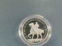 Moneda 50 bani 140 ani de la Unirea Dobrogei cu Rom