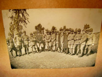 B257-I-WW1-Foto veche Medici romani ofiteri primul razboi m.