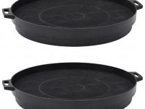 Filtre cu cărbune pentru hotă, 2 buc., negru 180082