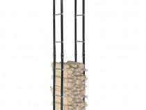 Rastel pentru lemne de foc, negru, 40x25x200 cm286283