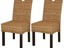 Scaun de bucătărie din ratan Kubu și lemn de 243638