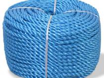 Frânghie împletită polipropilenă, albastru, 143844