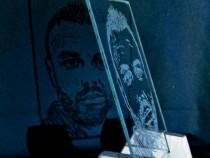 Portret pe sticla