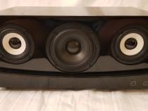 Boxa activa 50W cu bass reflex si finisaj Piano Black