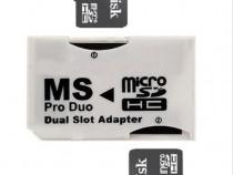 Adaptor dual memory stick produo psp+card memorie 8gb 16gb