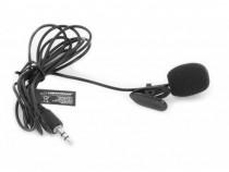 Microfon lavaliera cu fir,caciula antivant si fir flexibil