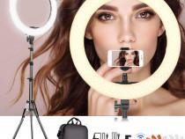 Lampa inel 48cm + suport, SAMTIAN, 55W, foto studio vlogging