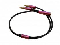 Adaptor cablu splitter audio microfon stereo 4 pini jack 3.5