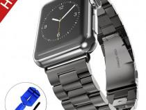 Catarama Apple Watch 3/2/1 42mm, BeYself, inox, negru