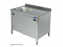 Spalator inox tip dulap 1 cuva pe stanga 1200*700*850