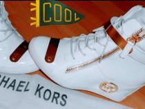 Sneakersi Michael Kors new model logo metalic auriu37 38 39