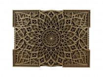 Tablou modern in straturi din lemn natural | decoratiuni