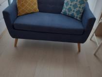 Canapea albastra 2 locuri noua