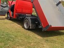 Transport marfa cu mercedes basculabil trilateral