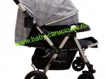 Cărucior nou născut 2in1+plasă Baby Care 511 Grey Design