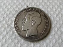 Monedă Carol I 5 Lei 1880