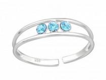 Inel De Picior Argint, Treime, Reglabil, Blue, A4S4302