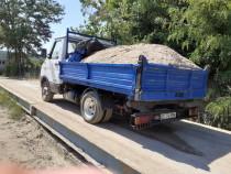 Transport nisip balastru sort