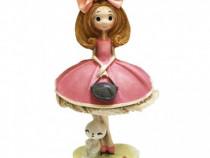 Figurina Fata Cu Poseta Si Iepuras, PC-9D