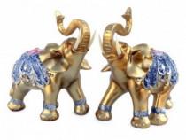 Set 2 Elefanti Decorati Cu Pietricele, 556E