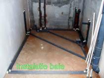 Instalații sanitare,termice,scurgeri,montare mobilier baie