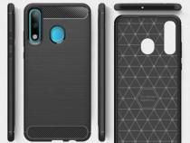 Husa telefon Silicon Huawei P30 Lite Black Carbon PRODUS NOU