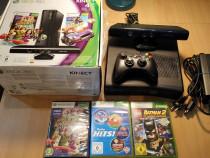 Consola Xbox 360S, full box, cu kinect, in stare excelenta!