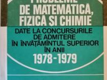 I. Sabac - Probleme date la admitere in anii 1978-1979