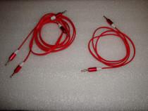Cablu audio jack to jack lungime 1m cablu plat mufe metalice