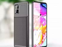 Samsung A50 A51 A70 A71 A21S - Husa Carbon Silicon Neagra