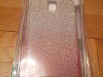 Husa spate Samsung J3/ 2017 roz cu argintiu