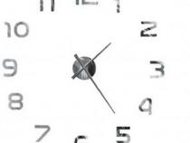 Ceas de perete Auriol Modern Clock, Argintiu 75 cm, Nou!