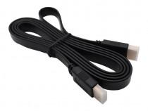 Cablu HDMI Plat MRG, Mufe aurite, 1.5 metri, Negru C340