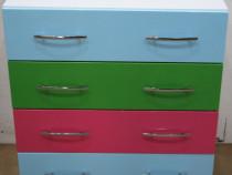 Comoda TV cu 4 sertare; Dulapior colorat camera copilului