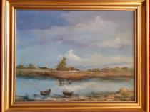 Tablou, pictura, peisaj, Ana Rusu 1993
