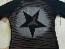 Bluza neagra cu maro si stea 140/146