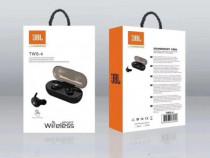 Casti in ear JBL TWS-4, bluetooth v5.0, wireless, Negre, Bli