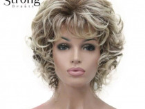 Peruca par cret scurt blond