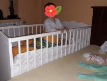 Patut bebe Hensvik+saltea+protectie+6 cearsafuri Ikea