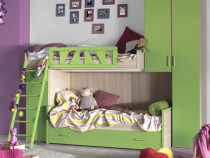 Mobilier camera copii Mobexpert, ansamblu 3 paturi