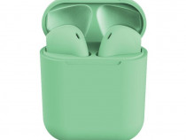 Casti Bluetooth inPods 12, Cu carcasa, Handsfree, Verde C380