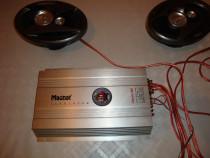 Boxe masina difuzoare AXTON 200w 3 cai + statie amplificator