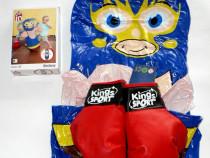 Set sac de box gonflabil cu manusi de box pt copil 3-6 ani